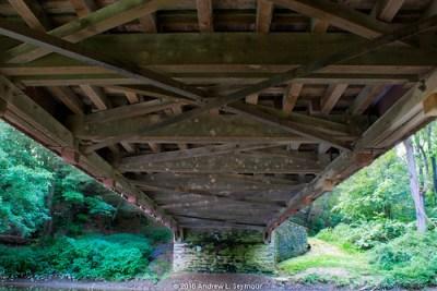 Mercer Covered Bridge HDR 04 (Underneath)