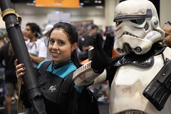 Jadzia Dax with a storm trooper