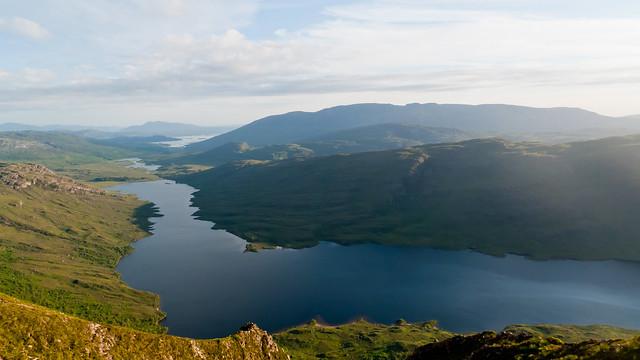 Loch Damh from Beinn Damh