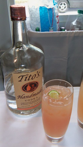 Gin Fizz with Tito's Vodka and Grapefruit juice