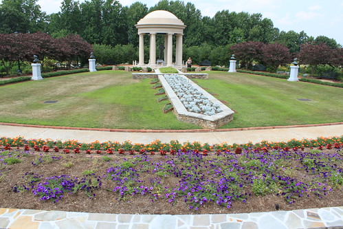 National D-Day Memorial - SHAEF Gardens from Sword Tip