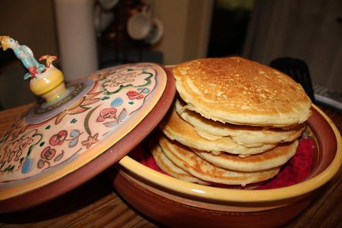 Stack of Walnut Pancakes