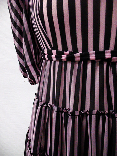 striped dress - detail