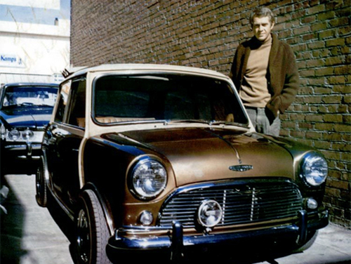 Steve McQueen & his Mini Coop