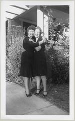 Two women in black