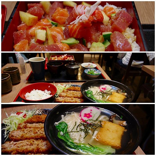 跟Iva到台北車站微風美食廣場的築地屋用餐。