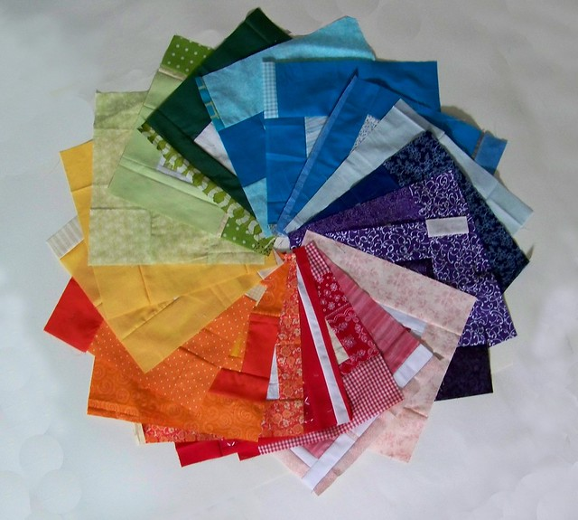 Color wheel of Rainbow around the Block donation patchwork