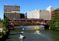 Pink Line Crosses the Chicago River