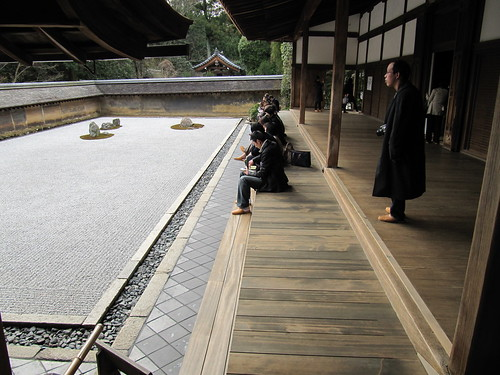 Karesansui garden in Ryōan-ji Temple, Kyoto