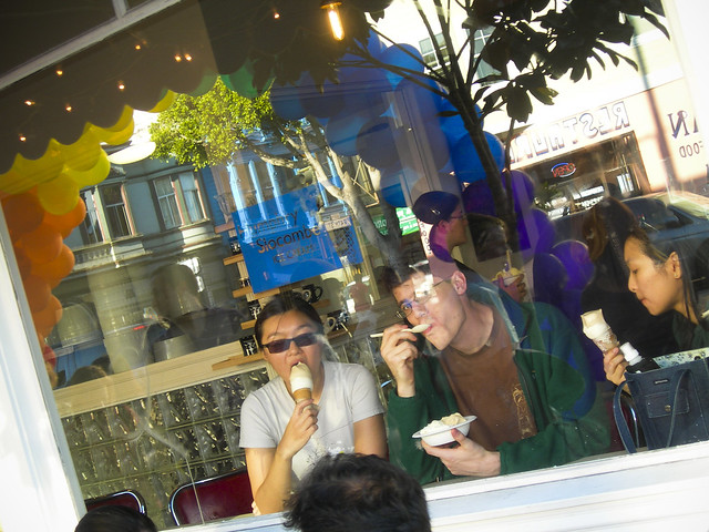 Birthday party at Humphry Slocombe's
