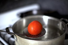into boiling water