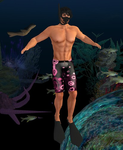 Cilian'gel Got Flower Power? shorts & snorkelling set