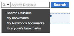 Search facets in delicious