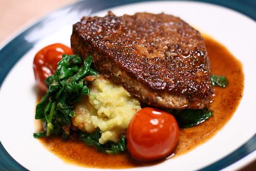 I make: Steak & Potatoes