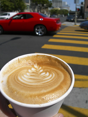 the cappuccino from Sightglass Coffee in SOMA, San Francisco