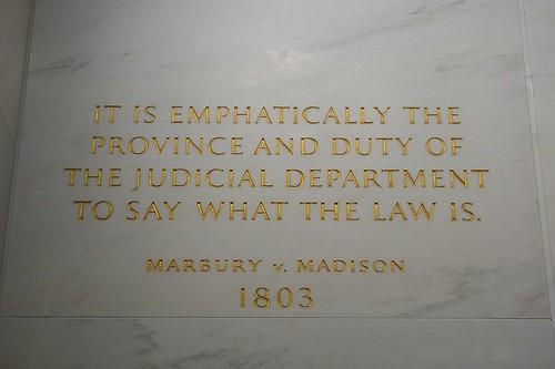Plaque of Marbury v. Madison at SCOTUS Building