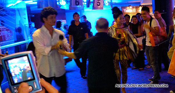 Phua Chu Kang and Rosie making their appearances after the movie screening