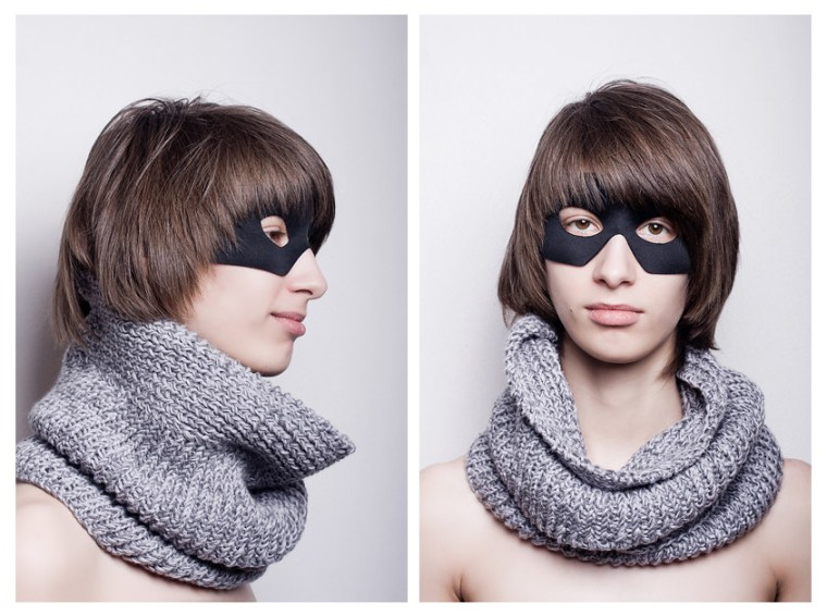 Grey ||= skarf 50/50 wool/acrylic