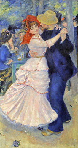Dance at Bougival - Pierre-Auguste Renoir (from Leisure in Art, MFA, Boston)