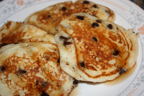 chocolate chip buttermilk pancakes