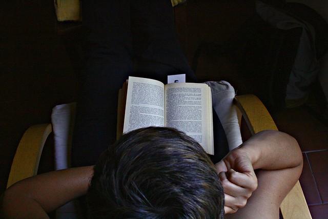 she's reading