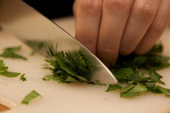 Quinoa Salad - Cutting up the Parsley