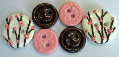 Tessa Ann Cherry Blossoms buttons