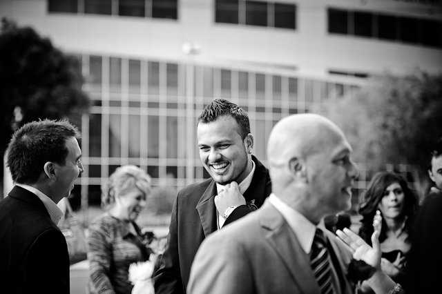 Laura and Elvis's Wedding- A Happy Groom
