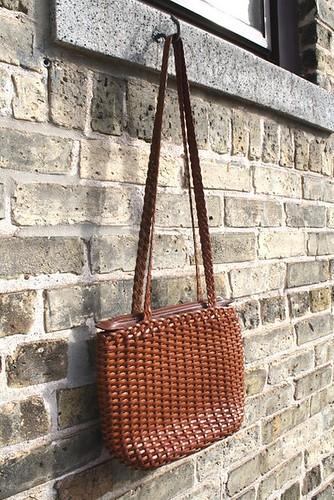 Handbag Auburn Leather Woven3