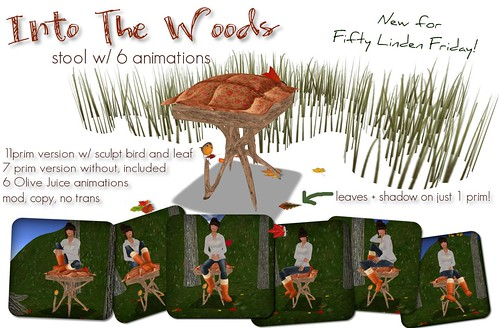 Into The Woods Stool: Fifty Linden Friday!