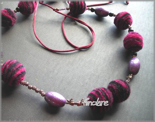 Felt and Polymer Clay Necklace
