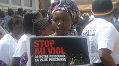Participant at the World March of Women in Bukavu, DRC