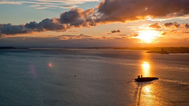 Sunset from the Forth Road Bridge