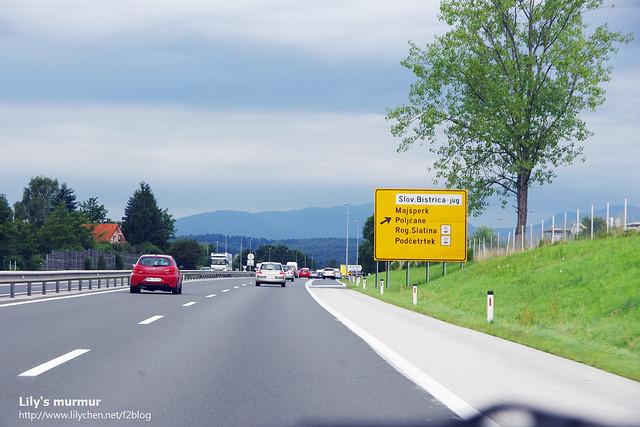 斯洛維尼亞高速供路上的風景。