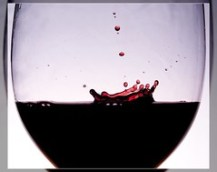 pure red wine