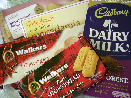 Shortbread and choc from Stella
