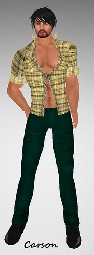 MHOH4 # 120 - SLACY's Yellow Plaid Shirt and Forest Cargo Pants