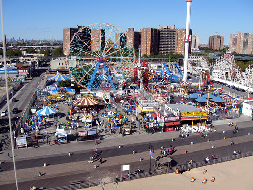 Kite Aerial Photography: Coney Island, Brooklyn.  Photo © Ron's KAP via flickr