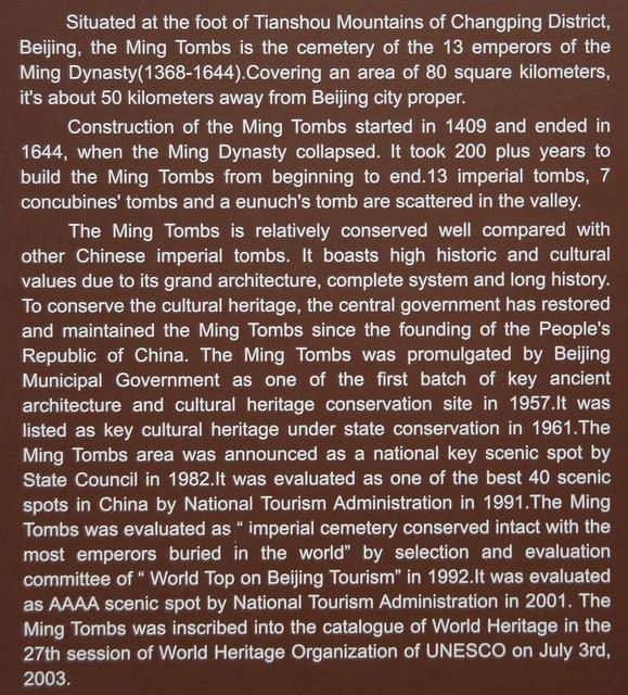Ming Tombs - description