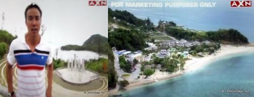 TARA host Allan WU (left); Misibis Bay Resort Overview (right)