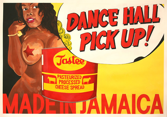 Dancehall Pick Up, Acrylic on Paper, 100cm x 70cm by Robin Clare