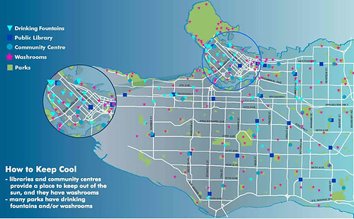 Vancouver Water Fountain Map