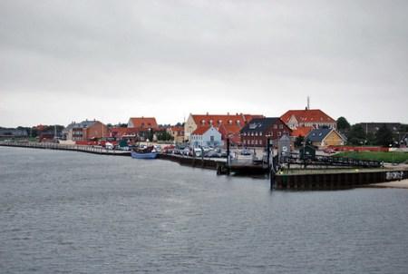 Vistas de Nordby desde el ferry