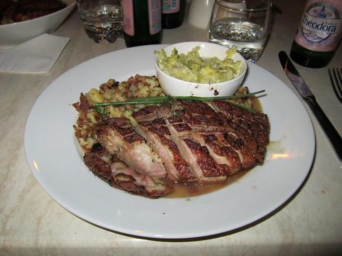 Menza Restaurant - duck, potatoes, cabbage
