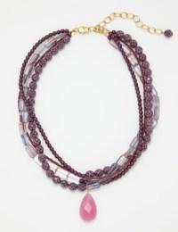 David Aubrey necklace lilac-grey