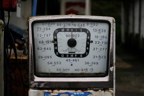 Disused petrol pump