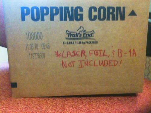 18 Pounds of Popcorn