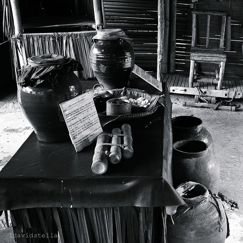 lihing making utensils and ingredients, Monsopiad Cultural Village, Kota Kinabalu.