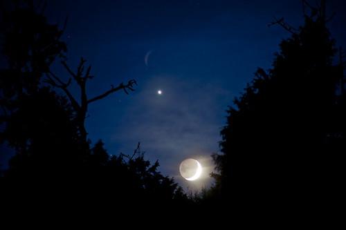 The Crescent Moon Sets