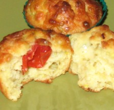courgette cheese and tomato muffin